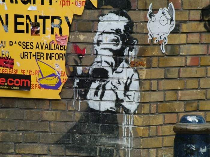 Banksy: Pseudonymous England-based graffiti artist, political activist, and painter