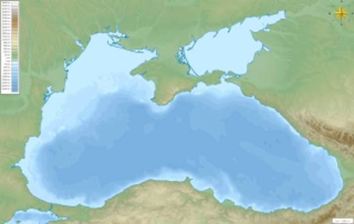 Black Sea: Eurasian sea northeast of the Mediterranean Sea