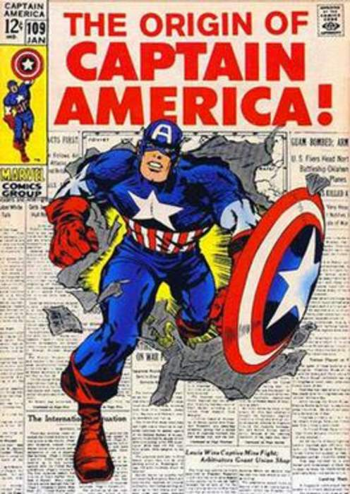 Captain America: Fictional superhero appearing in American comic books published by Marvel Comics
