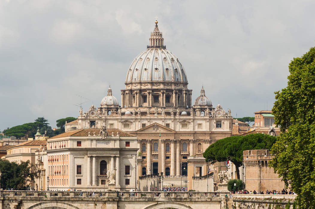 Catholic Church: Largest Christian church, led by the Pope