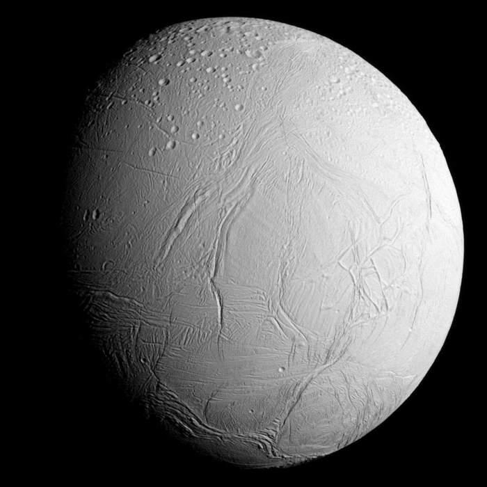 Enceladus: Natural satellite (moon) orbiting Saturn