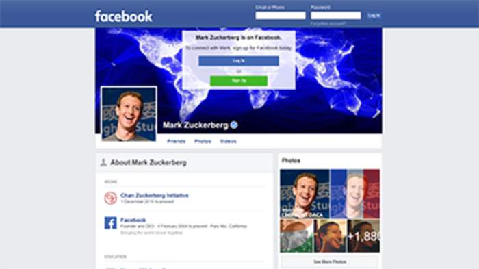 Facebook: American online social media and social networking service