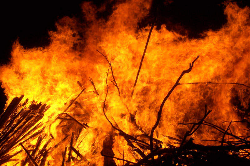 Fire: Rapid oxidation of a material