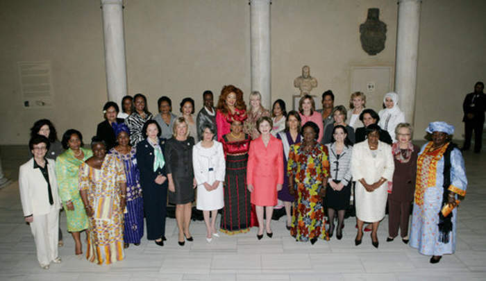 First Lady: Honorary title of the wife of a president or head of state