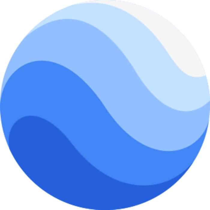 Google Earth: 3D globe-based map program owned by Google