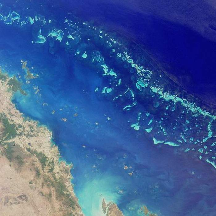 Great Barrier Reef: Coral reef system located in the Coral Sea