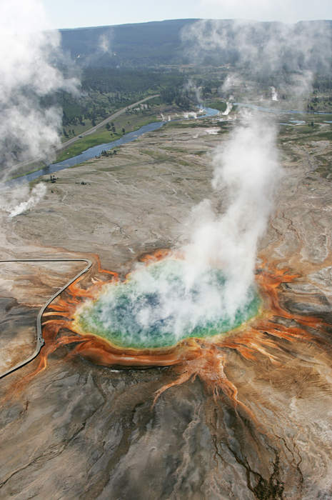 Hot spring: Spring produced by the emergence of geothermally heated groundwater