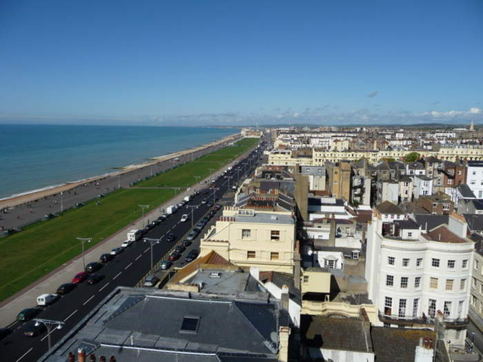 Hove: Town on the south coast of England, part of city of Brighton & Hove