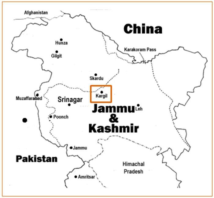 Kargil War: Undeclared war between India and Pakistan in 1999