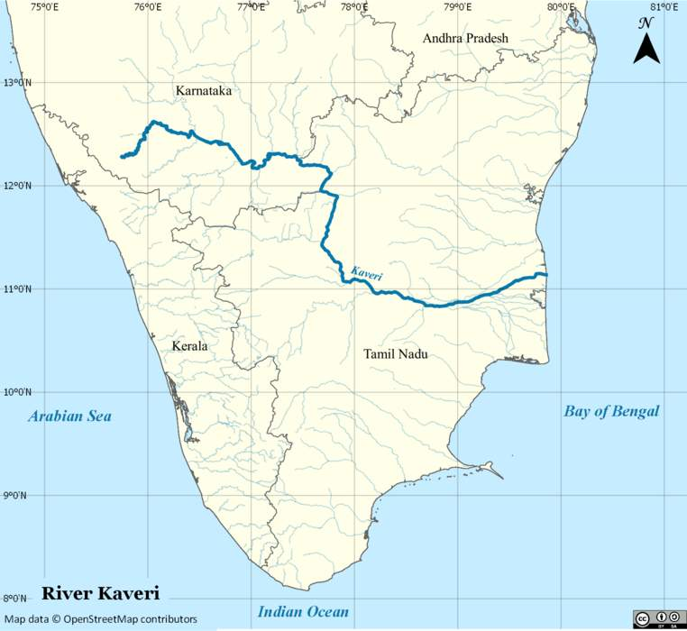 Kaveri: River in southern India