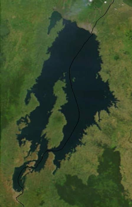 Lake Kivu: Meromictic lake in the East African Rift valley