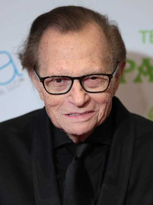 Larry King: American television and radio host