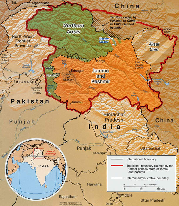 Line of Control: Demarcation line between India and Pakistan over the disputed region of Kashmir