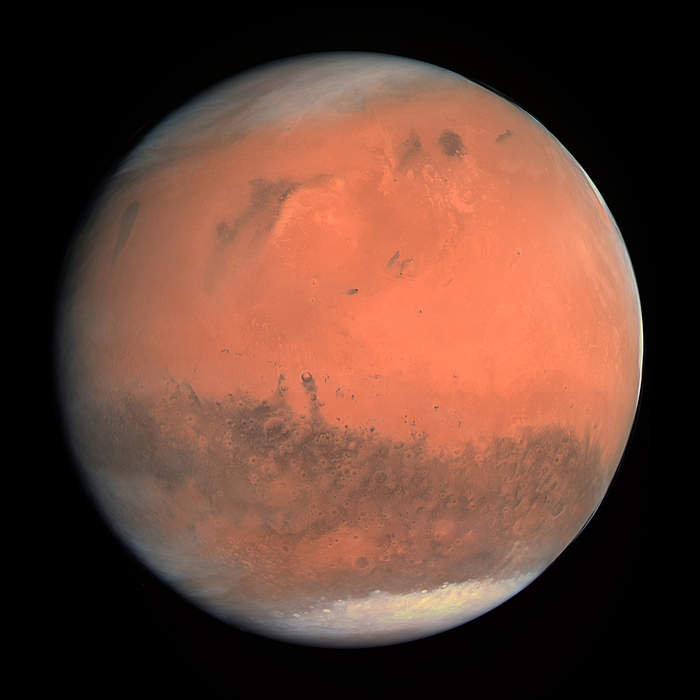 Mars: Fourth planet from the Sun in the Solar System