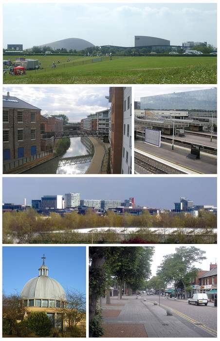 Milton Keynes: Large town in south central England founded in 1967