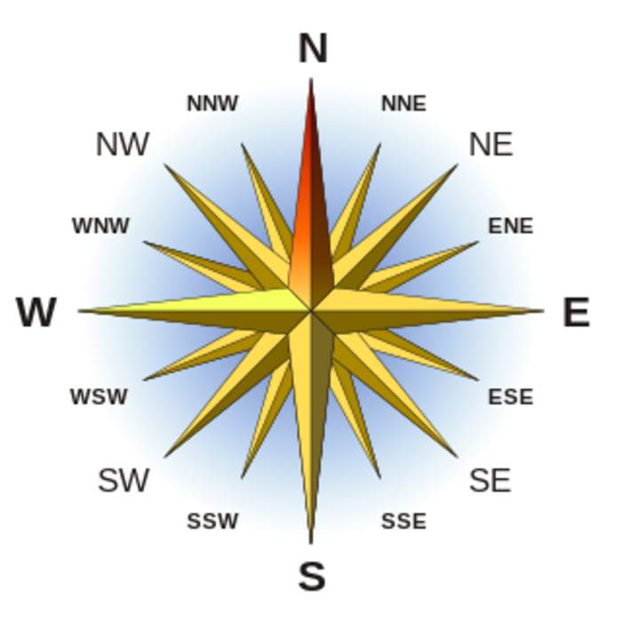 North: One of the four cardinal directions