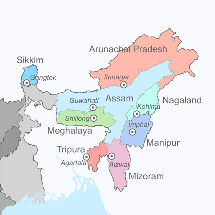 Northeast India: Group of Northeastern Indian states