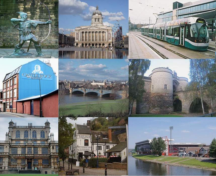 Nottingham: City and unitary authority area in England
