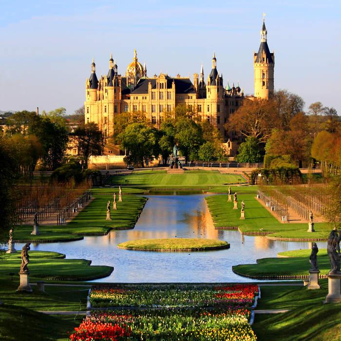 Palace: Grand residence, especially a royal residence