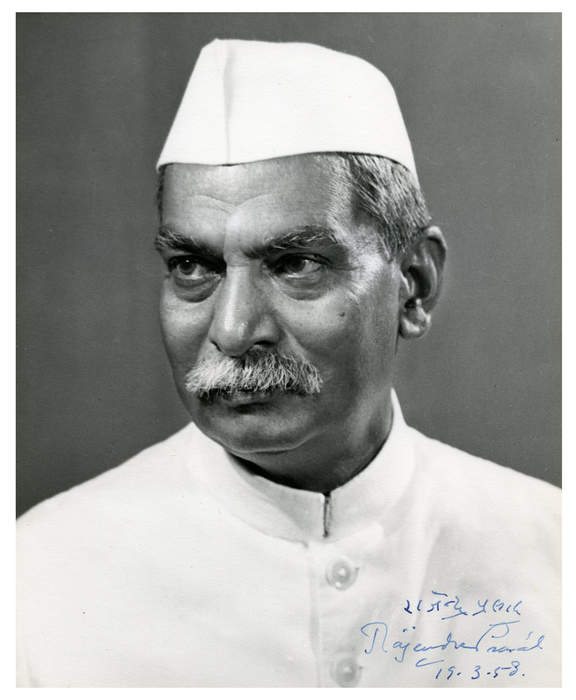 Rajendra Prasad: Indian independence activist, lawyer, scholar and first President of India (1884-1963)