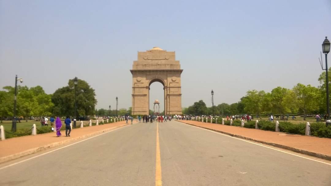 Rajpath: Boulevard in New Delhi leading up to the Rashtrapati Bhavan