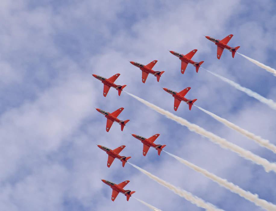 Red Arrows: Aerobatics display team of the Royal Air Force
