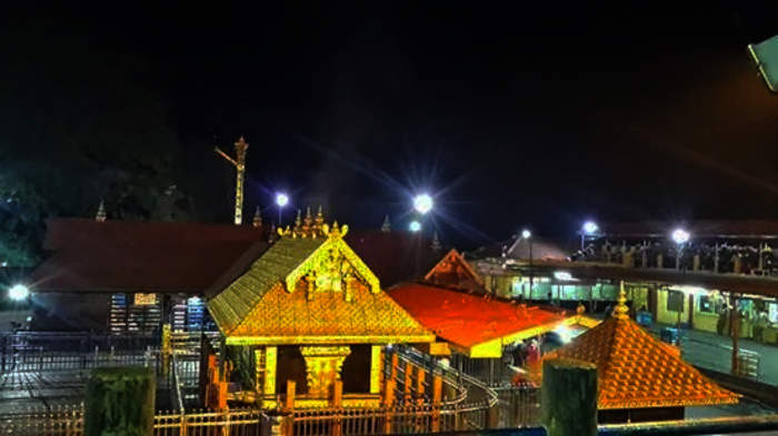 Sabarimala: Temple dedicated to Ayyappan in the Pathanamthitta District of Kerala, India