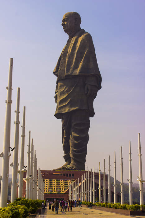 Statue of Unity: Monument to Vallabhbhai Patel in the Narmada valley, Gujarat, India