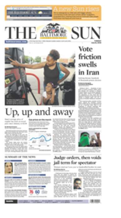 The Baltimore Sun: Daily broadsheet newspaper in the city of Baltimore, Maryland, United States
