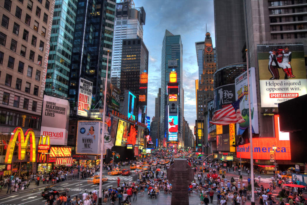Times Square: Intersection and area in Manhattan, New York
