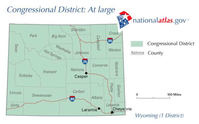 Wyoming's at-large congressional district: At-large U.S. House district for Wyoming