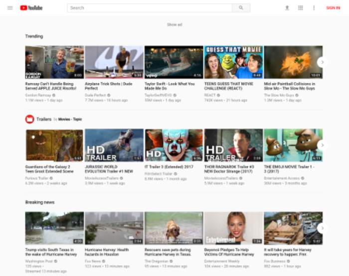 YouTube: Video-sharing service owned by Google